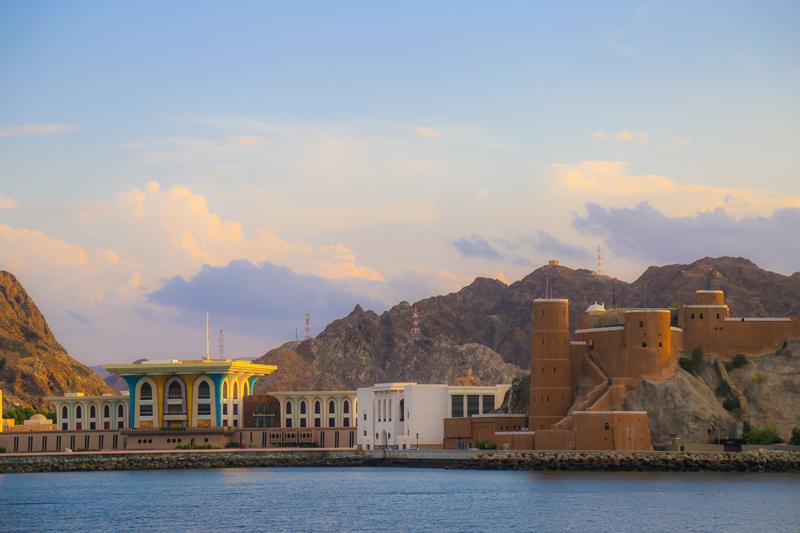 oman-maskat-al-alam-palace-sultanspalast-aussenansicht