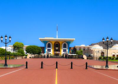 oman-maskat-al-alam-palace-sultanspalast-roter-asphalt