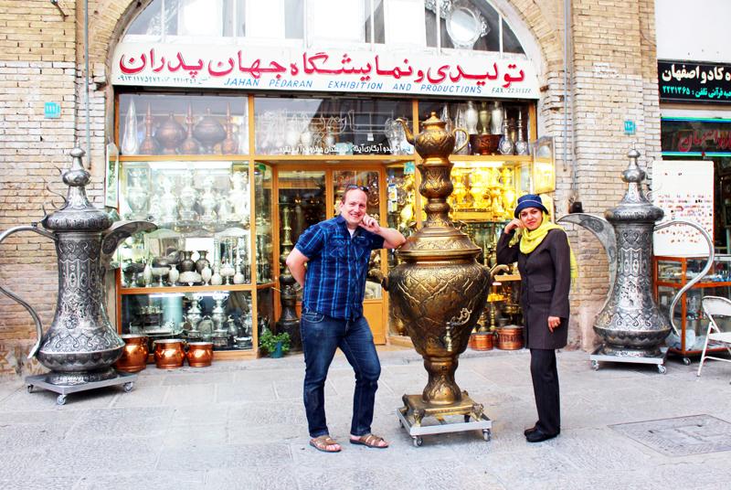 Übrigens macht einen großen Teil der Faszination des Naghsh-e Jahan Platzes in Isfahan der Basar aus, den wir während unserer Rundreise durch Iran auch besuchen