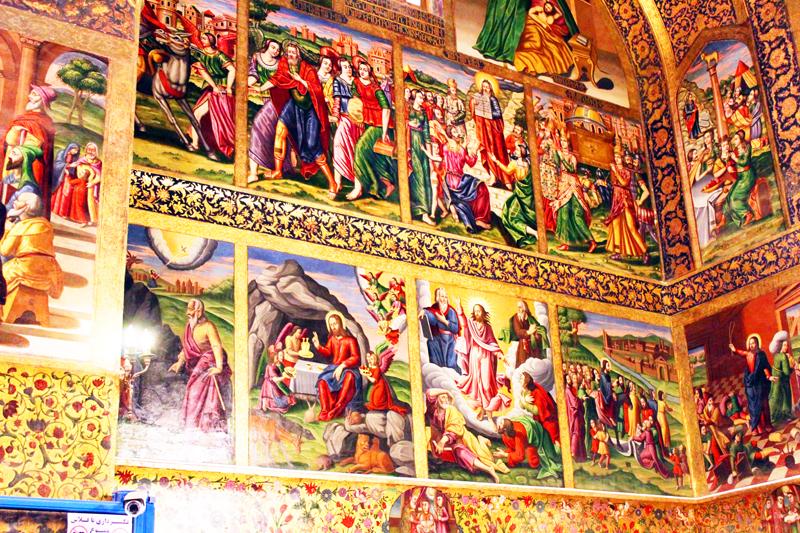 Überdies gibt es neben Moscheen auch Synagogen und Kirchen - wie hier Vank - in Isfahan in Iran
