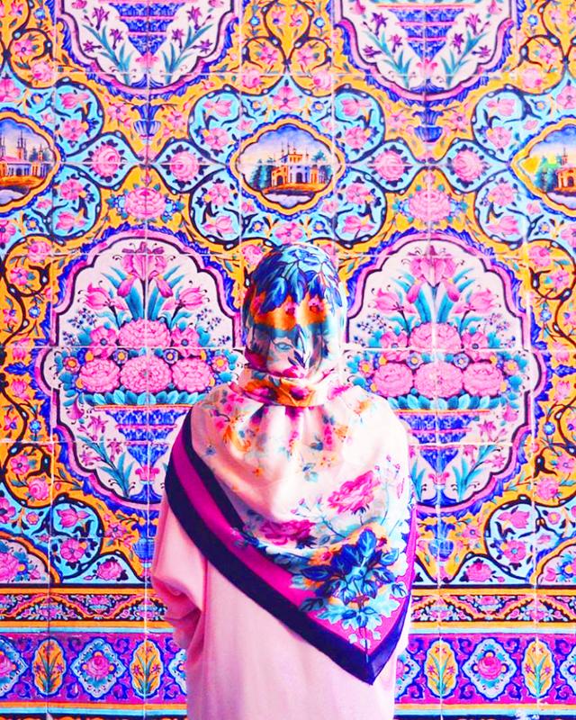 Pinke Moschee Nasir Molk Shiraz