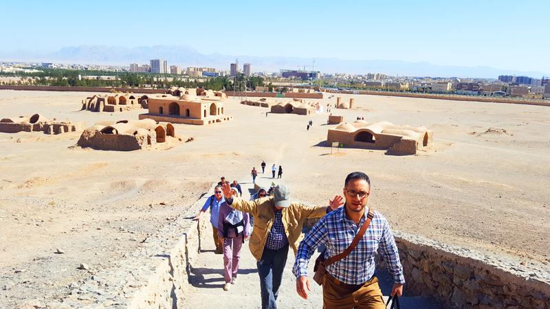 Aufstieg Türme des Schweigens Yazd