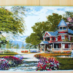 Persischer Wandteppich Motiv Landhaus