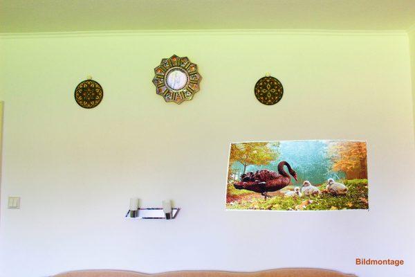 Persischer Wandteppich Schwäne, Platzierung
